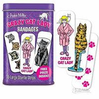 Crazy Cat Lady Adhesive Bandages 15 ct Tin w/ Free Prize