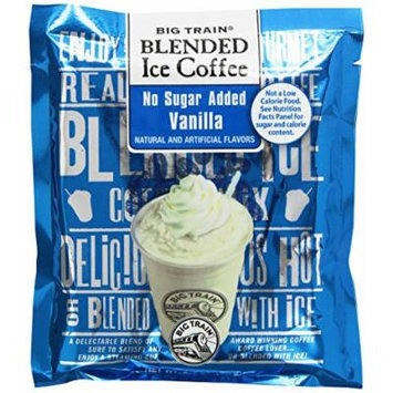 Big Train Blended Ice Coffee, No Sugar Added Vanilla, 2.8-Ounce Bags (Pack of 25)