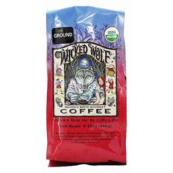Raven's Brew Coffee - Wicked Wolf Organic Ground Coffee - 12 oz.