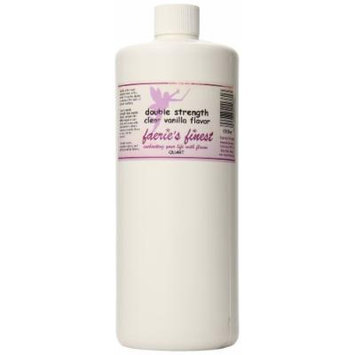 Faeries Finest Double Strength Clear Vanilla Flavor, 1 quart