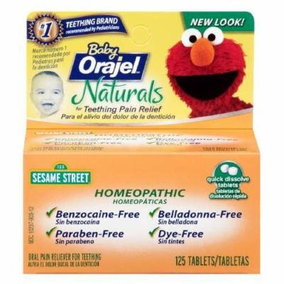Baby Orajel Naturals Teething Quick Dissolve Tablets 125 ea Pack of 2