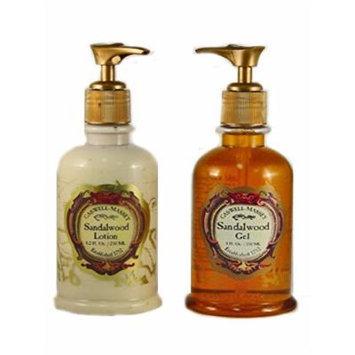 Caswell Massey Sandalwood Lotion and Foaming Bath Gel Bathing Set