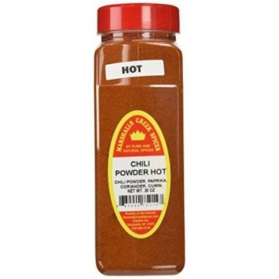 Marshalls Creek Spices X-Large Size Chili Powder, Hot, 20 Ounce