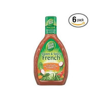Wish-bone Salad Dressing Sweet & Spicy French Bottles 16FZ (Pack of 12)