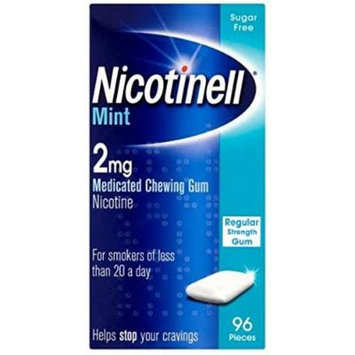 Nicotinell 2 MG Nicotine Smoking Cessation Chewing Gum - 96 Pieces - Mint Flavor