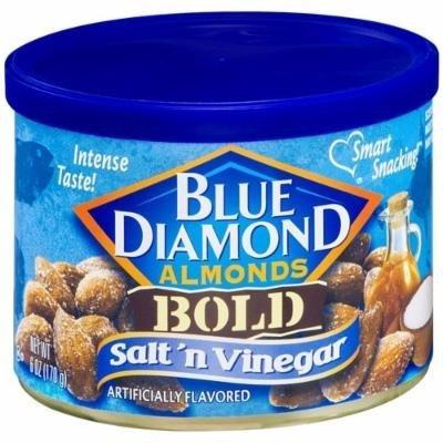 Blue Diamond Bold Almonds, Salt 'n Vinegar 6 oz (Pack of 2)
