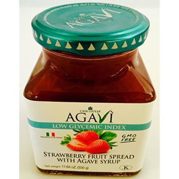 Casa Giulia Agavi Strawberry fruit spread 6 x11.64oz wAgave Low Glycemic Italy