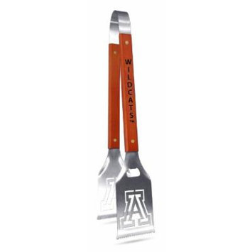 NCAA Arizona Wildcats Grill-A-Tongs, Heavy Duty Stainless Steel BBQ Grill Tongs