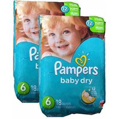 Pampers Baby Dry Diapers - Size 6 - 36 ct