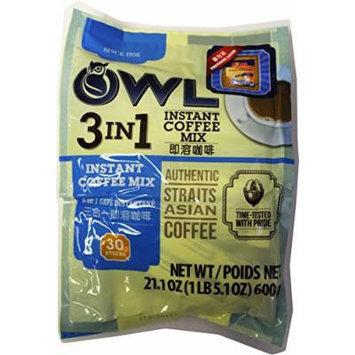 Owl Instant Coffee 3 In 1, 600-Grams (Pack of 3)