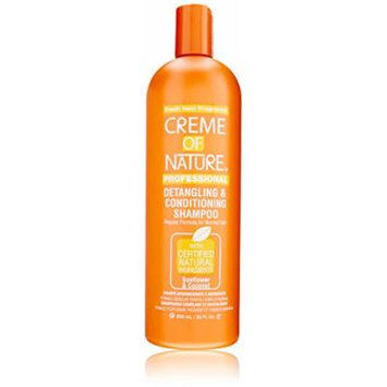 Creme of Nature Detangling Conditioning Shampoo for Normal Hair, Sunflower and Coconut, 20 Ounce