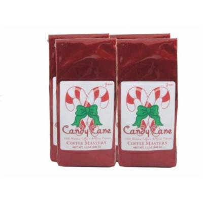 Candy Cane Coffee, Whole Bean (Case of Four 12 ounce Valve Bags)