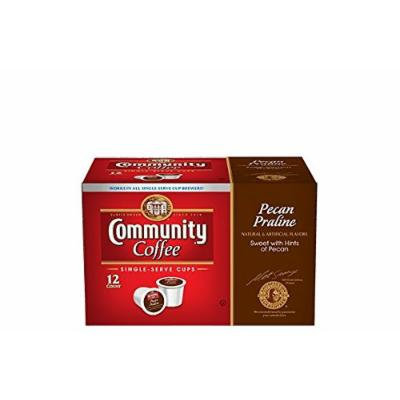 Community Coffee Single-Serve Cups, Pecan Praline, 12 Count Box