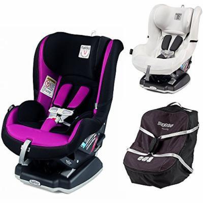 Peg Perego Primo Viaggio Infant Convertible Car Seat w Car Seat Travel Bag & Clima Cover, White (Fleur)