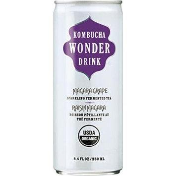 Kombucha Wonder Drink Niagara Grape Fermented Tea, 24 Count