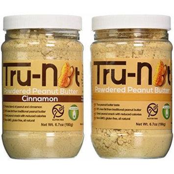 Tru-Nut Powdered Peanut Butter 2 Pack Original + Cinnamon