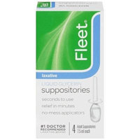 Fleet Adult Liquid Glycerin Suppositories, 4-Count Boxes (Pack of 3)