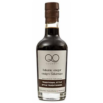 QO Gourmet Balsamic Vinegar of Modena , High Density TRADITIONAL Style , 250ml/8.5 fl.oz. , All Natural Aged in Wooden Barrels , Product of Italy