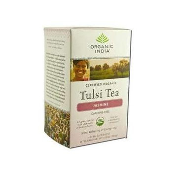 Organic India Jasmine Tulsi Tea, 18 Count (pack Of 6)