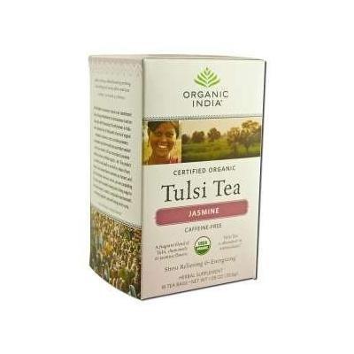Organic India Jasmine Tulsi Tea, 18 Count (pack Of 6)