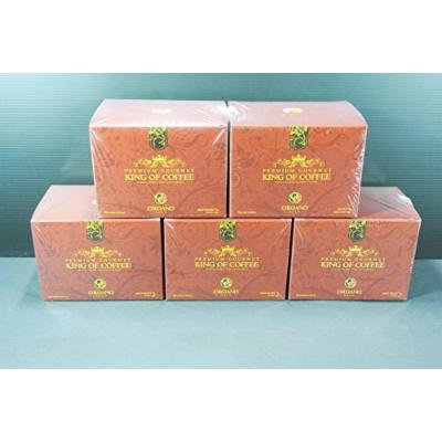 5 boxes Organo Gold Gourmet King Of Coffee cafe organic ganoderma (25 sachets per box)