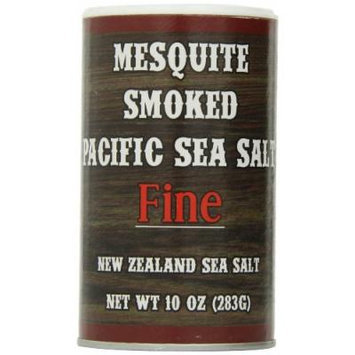 Pacific Salt Fine Mesquite Smoked New Zealand Sea Salt, 10 Ounce (Pack of 6)