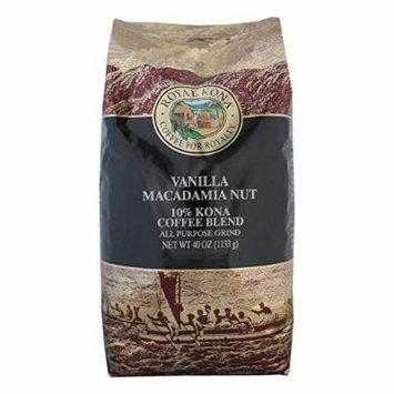 Royal Kona Coffee Vanilla Macadamia Nut 10% Kona Coffee (Ground) - 2.5 Pound Bag