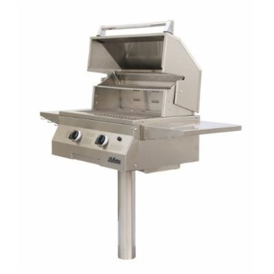 Solaire 27-Inch Basic InfraVection Propane In-Ground Post Grill, Stainless Steel