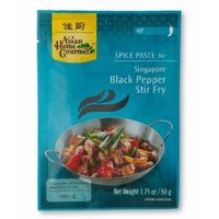 ASIAN HOME GOURMET Hot Spice Paste for Singapore Black Pepper Stir Fry 1.75 Ounce (Pack of 6)