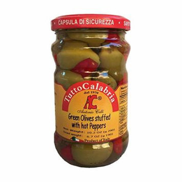 Tutto Calabria Hot Pepper Stuffed Green Olives 10.2 Oz.