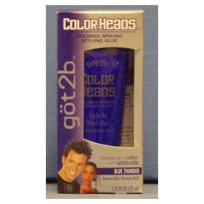 göt2b Color Heads Colored Spiking Styling Glue Blue Thunder 1.75 Oz (50 Ml)