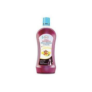 Ayur Herbal Shampoo Amla & Shikakai with Reetha for Normal Hair (Pack of 3)