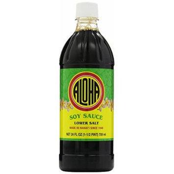 Aloha Shoyu Soy Sauce Lower Salt, 24 Ounce (Pack of 12)
