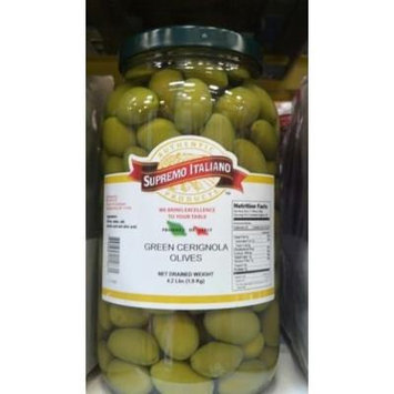 Supremo Italiano: Green Cerignola Olives 4.2 Lb. (2 Pack)