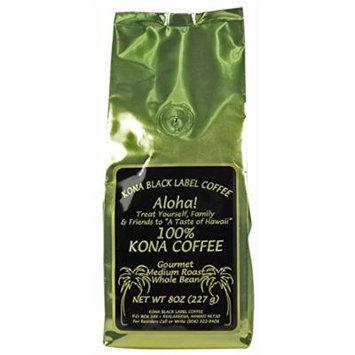 Black Label 100% Kona Medium Roast Whole Bean
