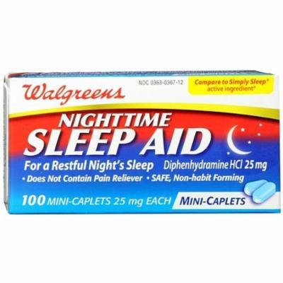 Walgreens Nighttime Sleep Aid Mini-Caplets 100 ea