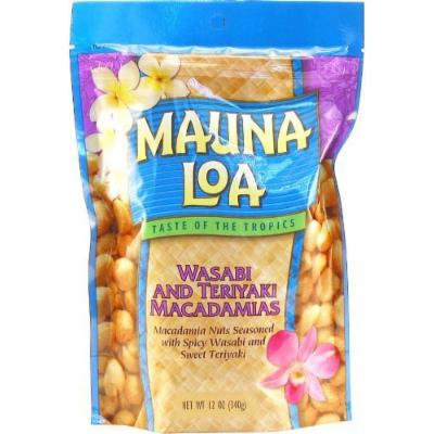 Mauna Loa Wasabi & Teriyaki Macadamia Nuts 1 Bag 11oz Each and 1 Bar of Noni Facial soap and 1 Tube of White Ginger Conditioning Shampoo.