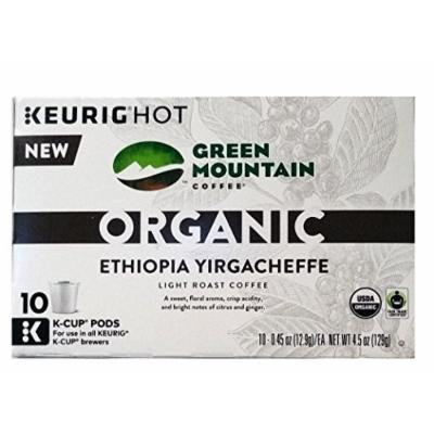 Green Mountain Organic Coffee K-cups 30 Pack(3 10 Packs) (Ethiopia Yiragacheffe)