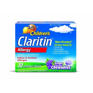 Children's Claritin Allergy, Grape Chewables 30 CT (PACK OF 2)