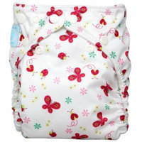 Charlie Banana Diaper In Bellywrap, Butterfly, Medium, 0.42 Pounds (Pack of 24)