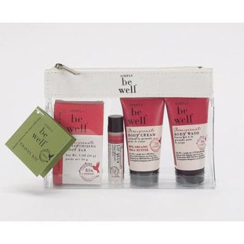 Simply Be Well 5 Piece Bath and Body Travel Kit (Pomegranate)
