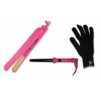 HerStyler Colorful Seasons Straightener 1.5 inch Flatiron, Grande 18-25mm Curling Iron (Hot Pink)