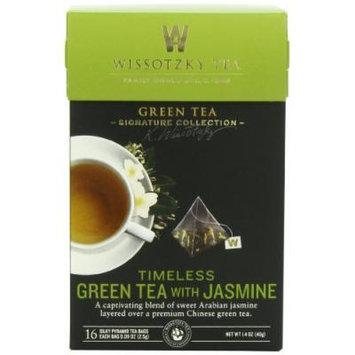 Wissotzky Tea Signature Collection Timeless Green Tea, Jasmine, 1.41 Ounce