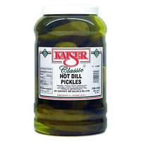 Kaiser Hot Dill Pickles - 14-16 Pickles in a One Gallon Container