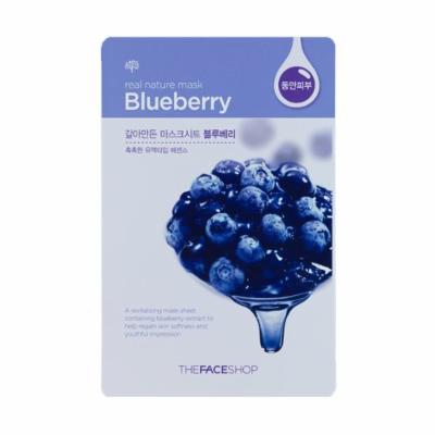 The Face Shop Real Nature Blueberry Sample Mask (15sheets)