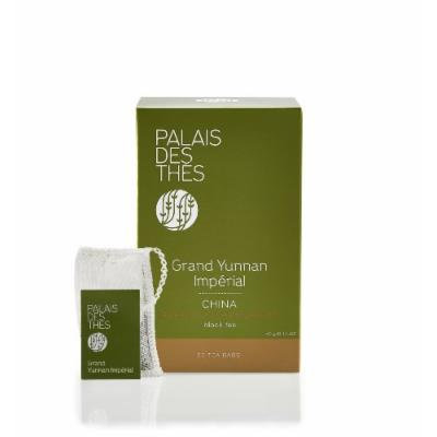 Palais des Thés Grand Yunnan Imperial Chinese Black Tea, 20 Tea Bags (40g/1.4oz)
