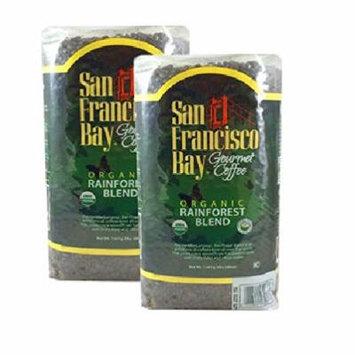 San Francisco Bay Organic Rain Forest Blend Whole Bean Coffee 3 lb. Bag 2-pack