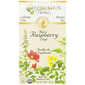Celebration Herbals Tea Loosepack Herbal Organic Red Raspberry Leaf -- 50 g