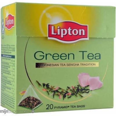 Lipton Green Tea - Indonesian Sencha - Premium Pyramid Tea Bags