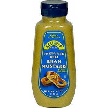 Keller's Prepared Deli Bran Mustard, 12-Ounce Bottles (Pack of 12)